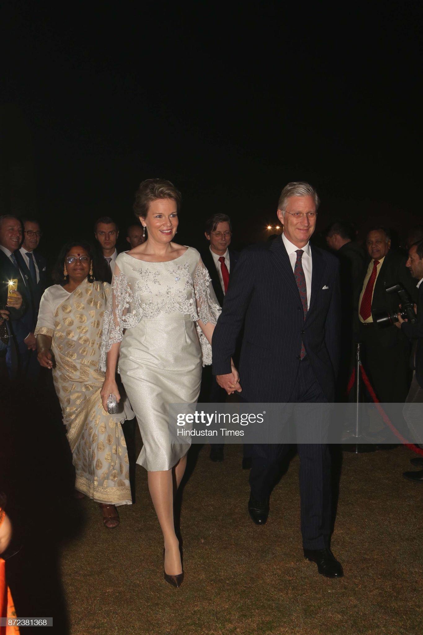Вечерние наряды Королевы Матильды Belgian Ambassador To India Jan Luykx Hosts A Reception Party : News Photo