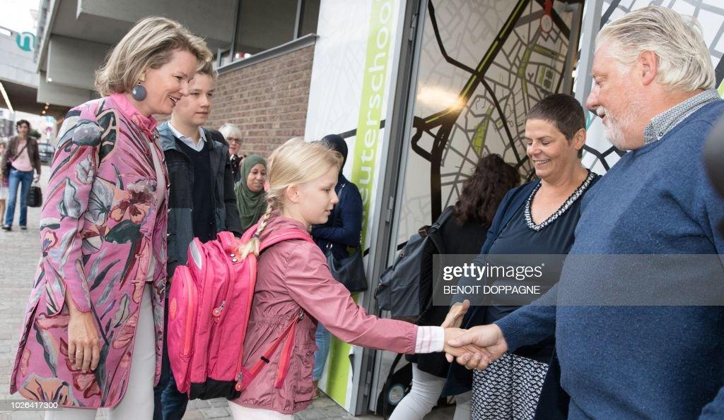 BELGIUM-EDUCATION-SCHOOL-ROYALS : News Photo