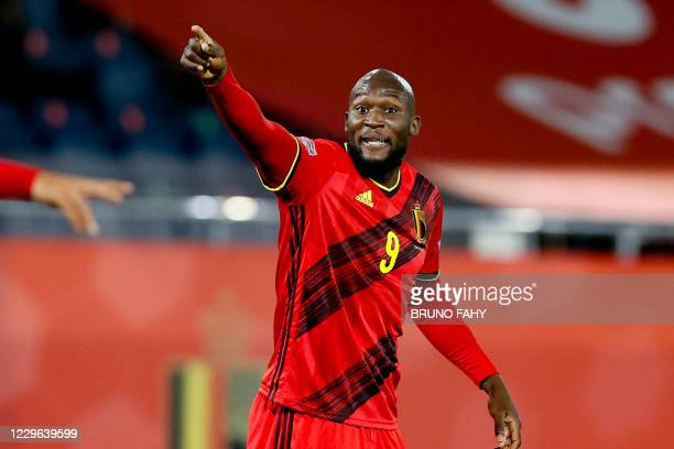 Belgium's Romelu Lukaku pictured during a Nations League soccer game between the Belgian national team Red Devils and England, the fifth game in the...