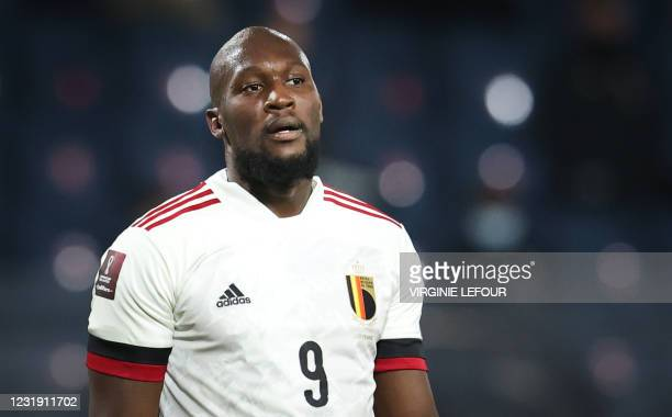 Belgium's Romelu Lukaku pictured during a qualification game for the World Cup 2022 in the group E between the Belgian national team Red Devils and...