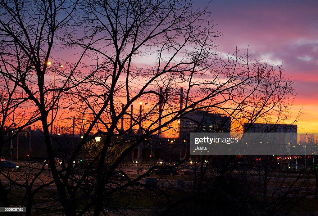 Belgrade at night : Stock Photo