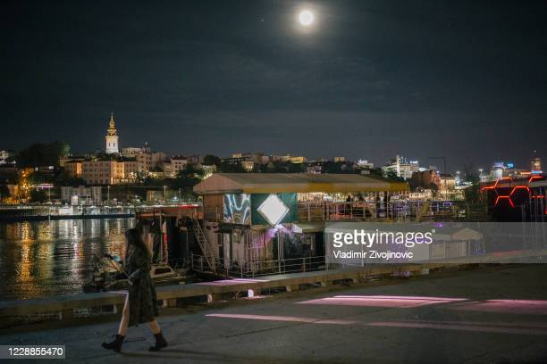 Belgrade's famous nightclub 20/44 on the Sava River on October 2, 2020 in Belgrade, Serbia. The city's bars and restaurants are not allowed to...