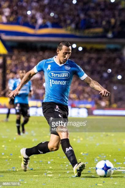 OCTOBER 29 Belgrano Francisco Romero during the Superliga Argentina match between Boca Juniors and Belgrano at Estadio Alberto J Armando'n 'n
