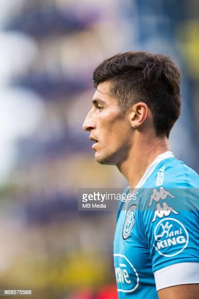 OCTOBER 29 Belgrano Joel Amoroso during the Superliga Argentina match between Boca Juniors and Belgrano at Estadio Alberto J Armando'n 'n