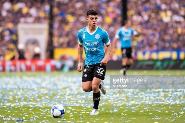 OCTOBER 29 Belgrano Juan Brunetta during the Superliga Argentina match between Boca Juniors and Belgrano at Estadio Alberto J Armando'n 'n
