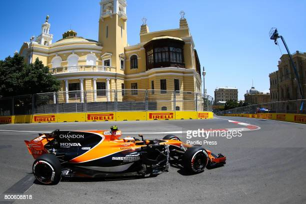 Belgum Formula One driver Stoffel Vandoornen of McLaren Honda F1 Team in action during the first practice session of the Formula One Grand Prix of...