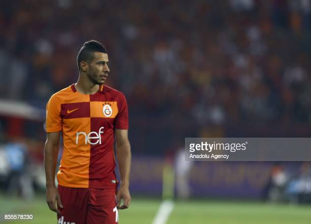 Belhanda of Galatasaray gestures during Turkish Super Lig soccer match between Osmanlispor and Galatasaray at the Osmanli Stadium in Ankara Turkey on...