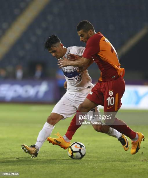 Belhanda of Galatasaray in action during Turkish Super Lig soccer match between Osmanlispor and Galatasaray at the Osmanli Stadium in Ankara Turkey...
