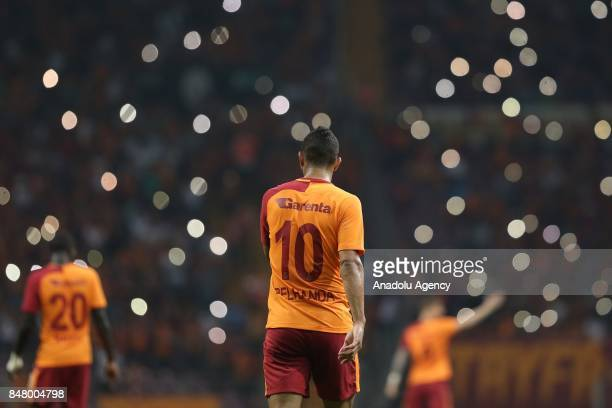Belhanda of Galatasaray is seen during the fifth week of the Turkish Super Lig soccer match between Galatasaray and Kasimpasa at Turk Telekom Stadium...