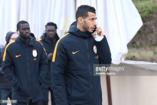 Belhanda of Galatasaray takes a walk during a training session within Galatasaray's halftime training camp ahead of the 2nd half of Turkish Super Lig...