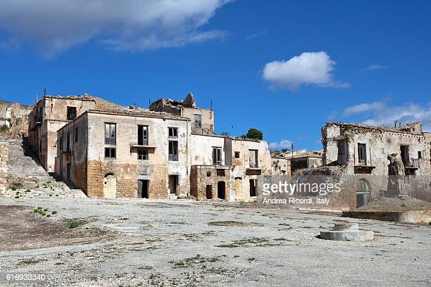 Belice valley, ghost town after an earthquake