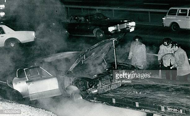 Believe it or not, Mattress Caused this; Heavy damage was reported to this 1970 Buick that caught fire about 7:50 p.m. Thursday on southbound...