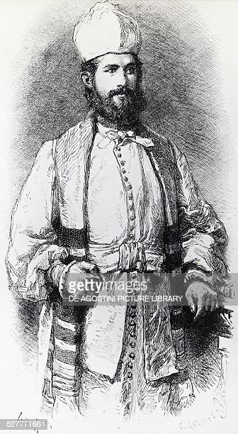 Believer in Karaism , illustration by Alphonse-Marie-Adolphe de Neuville from Free Russia by William Hepworth Dixon . 19th century.