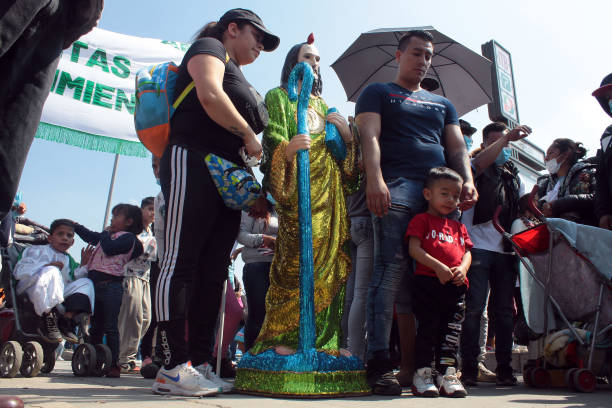 MEX: Devotees of Judas Thaddaeus Arrive to San Hipolito Church in Mexico City