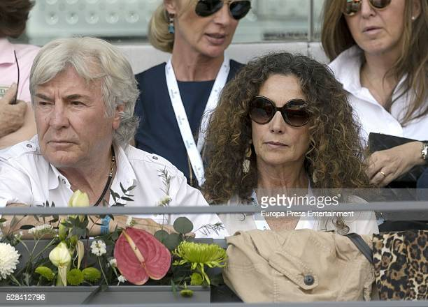 Belinda Alonso and Angel Nieto attend match during day six of the Mutua Madrid Open tennis tournament on May 04 2016 in Madrid