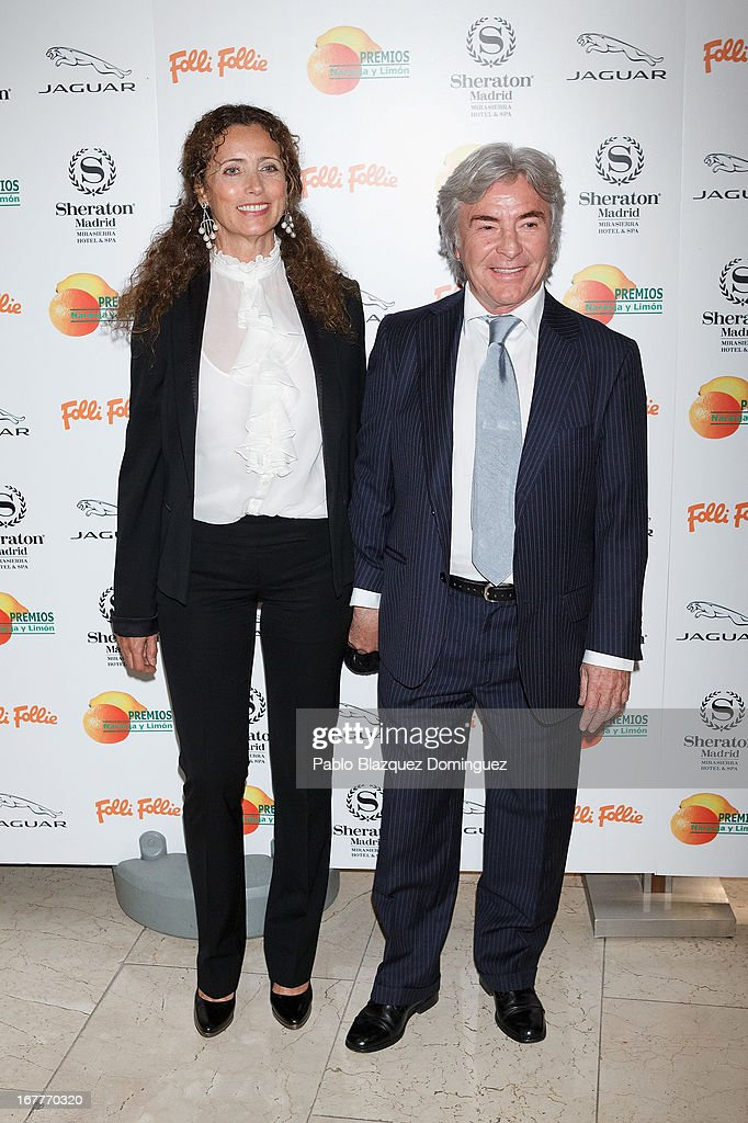 Belinda Alonso and Angel Nieto attend 'Orange And Lemon' Awards ceremony at Sheraton Mirasierra Hotel on April 29, 2013 in Madrid, Spain.