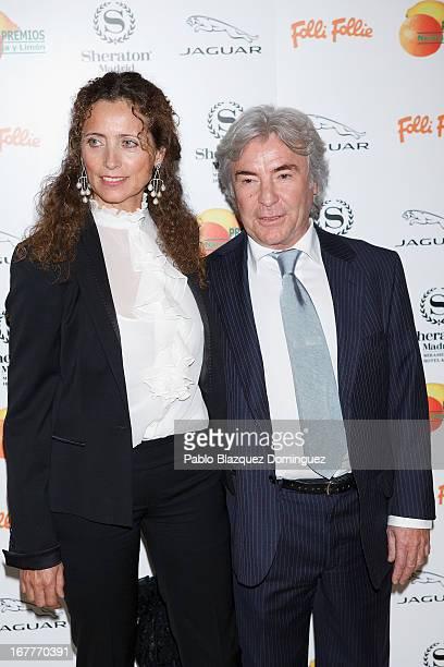 Belinda Alonso and Angel Nieto attend 'Orange And Lemon' Awards ceremony at Sheraton Mirasierra Hotel on April 29 2013 in Madrid Spain