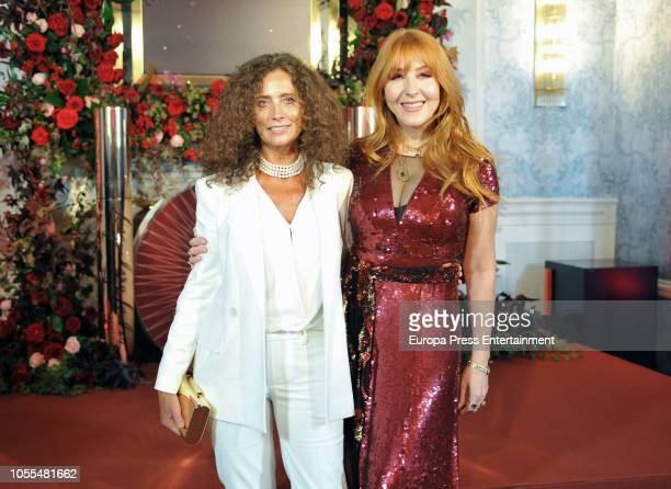 Belinda Alonso and Charlotte Tilbury during Charlotte Tilbury's Party on October 29 2018 in Madrid Spain