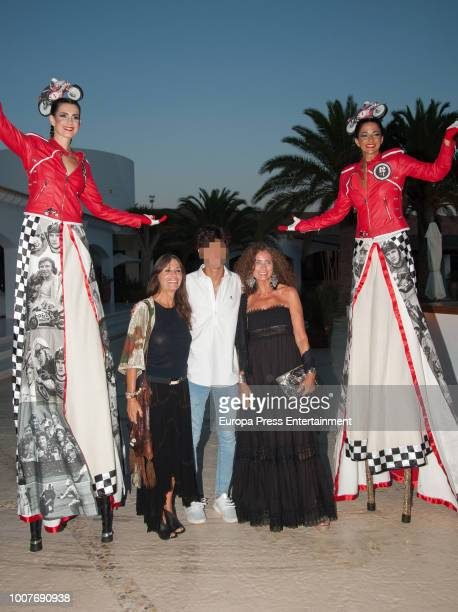 Belinda Alonso and her son Hugo Nieto attend the homage to Angel Nieto organised by Adlib Moda Ibiza at Destino hotel on July 27 2018 in Ibiza Spain