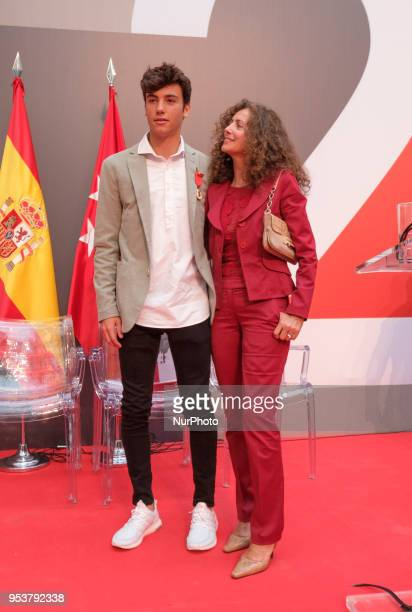 Belinda Alonso and Hugo Nieto during on the occasion of the Day of the Autonomous Community of Madrid in Madrid Spain 02 May 2018 The Dos de Mayo...