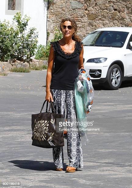 Belinda Alonso arrives at Rocio Carrasco and Fidel Albiac's wedding on September 7 2016 in Toledo Spain