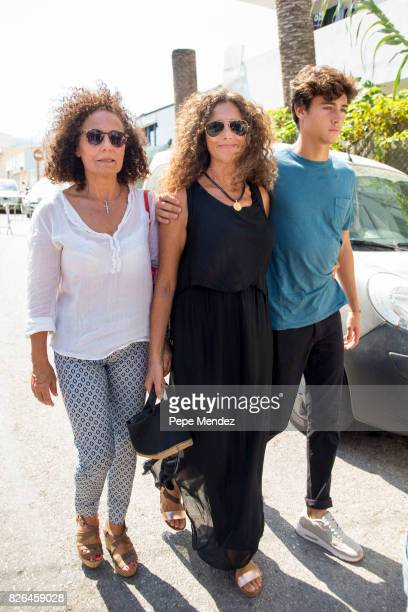 Belinda Alonso attends the funeral chapel for ex motorcyclist Angel Nieto at Tanatorio de Ibiza on August 4 2017 in Ibiza Spain