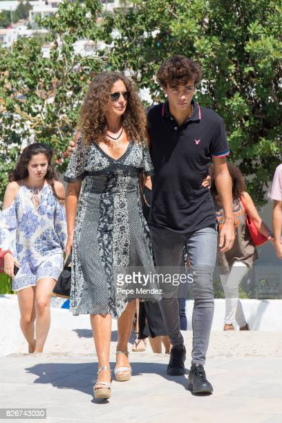 Belinda Alonso attends the Mass Funeral for Angel Nieto at Parroquia de Santa Eularia on August 5 2017 in Ibiza Spain
