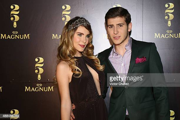 Belinda and guest attend the Magnum 25th Anniversary at Ex Convento De San Hipolito on April 24 2014 in Mexico City Mexico
