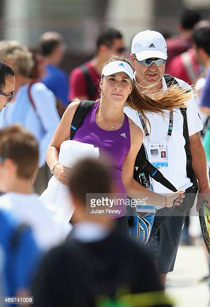 Belinda Bencic of Switzerland leaves a practice session during day two of the Internazionali BNL d'Italia tennis 2014 on May 12 2014 in Rome Italy