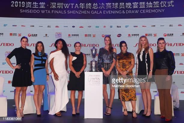 Belinda Bencic of Switzerland, Simona Halep of Romania, Naomi Osaka of Japan, Ashleigh Barty of Australia, Karolina Pliskova of the Czech Republic,...