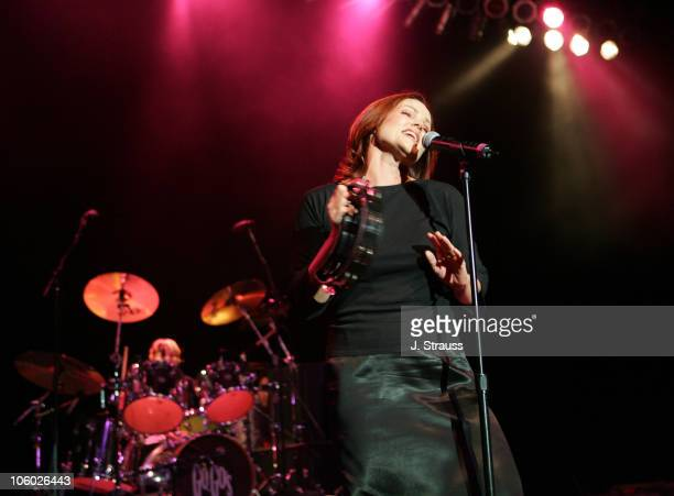 Belinda Carlisle and Gina Schock of the GoGo's during The GoGo's and Morningwood Perform Live at the Greek Theater July 14 2006 at Greek Theatre in...