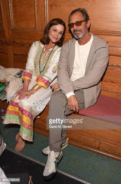 Belinda Carlisle and Morgan Mason attend the launch of Belinda Carlisle's new album 'Wilder Shores' featuring a a session of Kundalini Yoga...