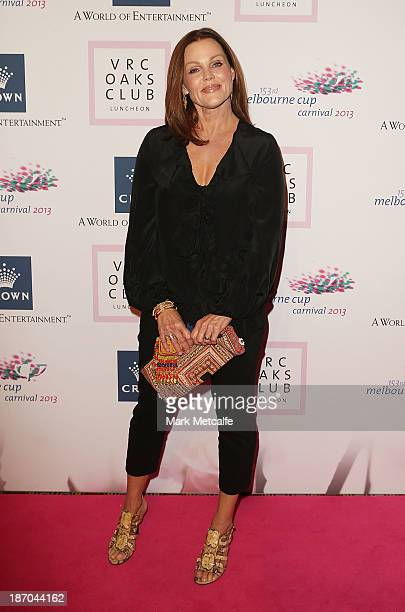 Belinda Carlisle arrives at the VRC Oaks Club Luncheon at the Crown Palladium on November 6 2013 in Melbourne Australia
