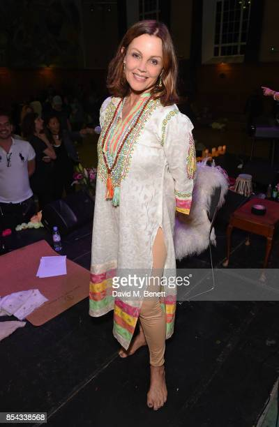 Belinda Carlisle attends the launch of Belinda Carlisle's new album 'Wilder Shores' featuring a a session of Kundalini Yoga meditation and chanting...