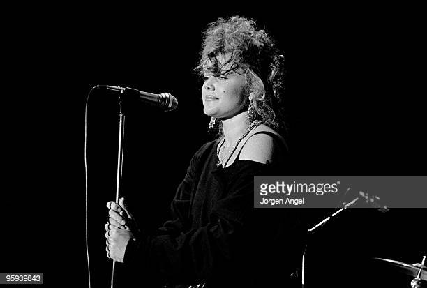 Belinda Carlisle of The GoGo's performs on stage at Brondyhallen supporting The Police on January 5th 1982 in Copenhagen Denmark