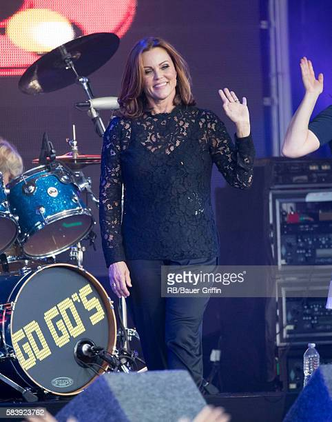 Belinda Carlisle of the music group 'The GoGo's' is seen at 'Jimmy Kimmel Live' on July 27 2016 in Los Angeles California