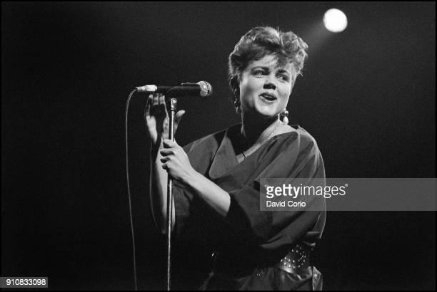 Belinda Carlisle performing at The Lyceum Theatre London UK 14 November 1982