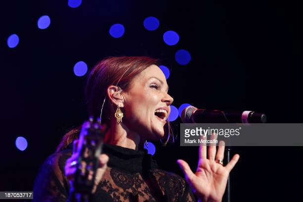 Belinda Carlisle performs at the VRC Oaks Club Luncheon at the Crown Palladium on November 6 2013 in Melbourne Australia