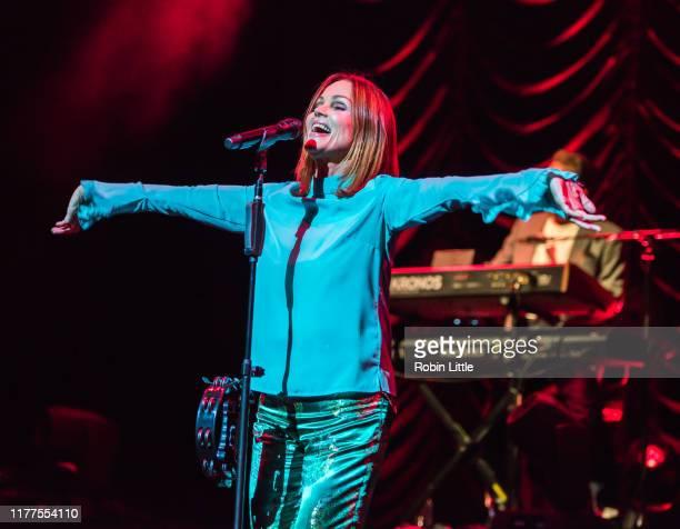 Belinda Carlisle performs on stage at the London Palladium on September 27 2019 in London England