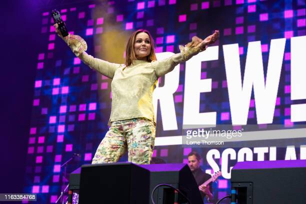 Belinda Carlisle performs on stage during Rewind Scotland 2019 at Scone Palace on July 21 2019 in Perth Scotland