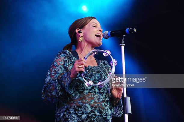 Belinda Carlisle performs on stage on Day 3 of Rewind 80s Festival 2013 at Scone Palace on July 28 2013 in Perth Scotland