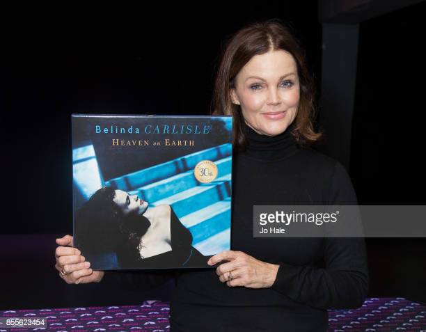 "Belinda Carlisle signs copies of her New Album ""Wilder Shores"" and Copies of the 30th Anniversary Edition of ""Heaven on Earth"" at HMV Oxford Street..."