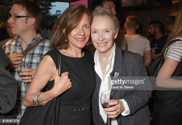 Belinda Lang and Lindsay Duncan attend the press night party for 'Twilight Song' at The Park Theatre on July 17 2017 in London England