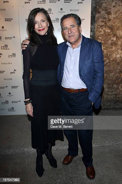 Belinda Lang and Nicolas Kent attends the Kiss Me Kate after party at Old Vic Tunnels on November 27 2012 in London England