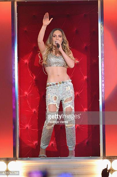 Belinda performs onstage at the 2015 Billboard Latin Music Awards presented bu State Farm on Telemundo at Bank United Center on April 30 2015 in...