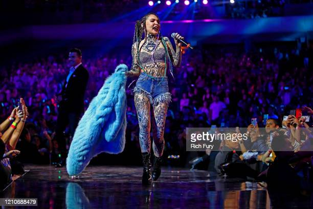 Belinda performs onstage during the 2020 Spotify Awards at the Auditorio Nacional on March 05 2020 in Mexico City Mexico