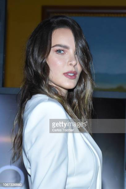 Belinda poses for photos during the presentation of the 'Popstar by Belinda' new collection at Club de Banqueros on November 13 2018 in Mexico City...