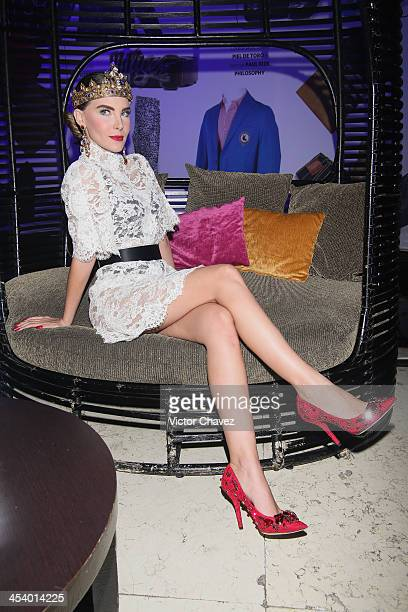 Belinda poses to photographers during the EstiloDF 3rd anniversary at Joy Room on November 27 2013 in Mexico City Mexico