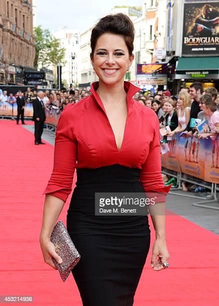 "Belinda Stewart-Wilson attends the World Premiere of ""The Inbetweeners 2"" at Vue West End on August 5, 2014 in London, England."