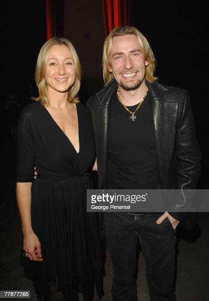 Belinda Stronach and Nickelback's Chad Kroeger attend the Sir Richard Branson Launch for Virgin Unite Canada at the Direct Energy Centre on November...